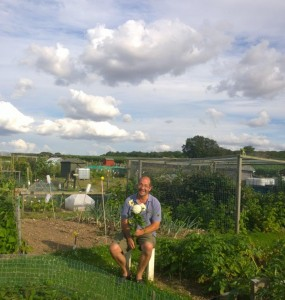 Stephen Clark summer on his allotment